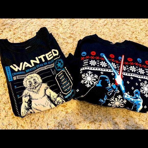 Star Wars funko t shirt & holiday sweatshirt L/XL